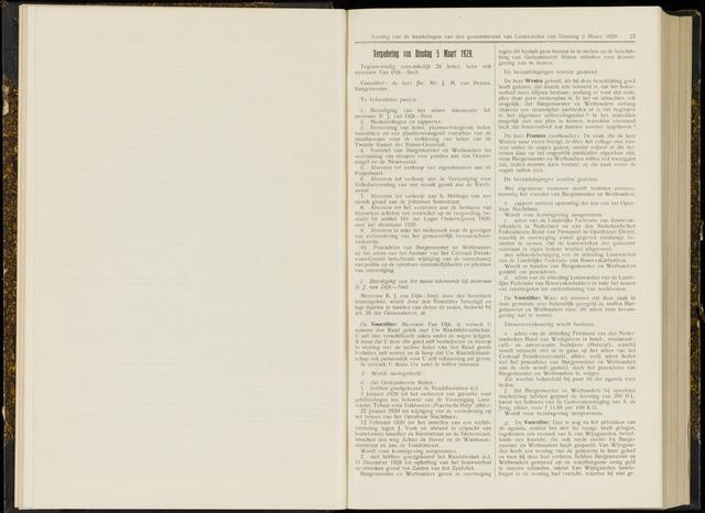 Raadsverslagen van de gemeente Leeuwarden, 1865-2007 (Notulen) 1929-03-05