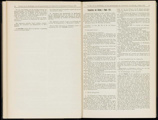 Raadsverslagen van de gemeente Leeuwarden, 1865-2007 (Notulen) 1931-03-03