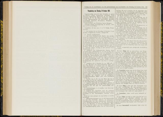 Raadsverslagen van de gemeente Leeuwarden, 1865-2007 (Notulen) 1916-10-24