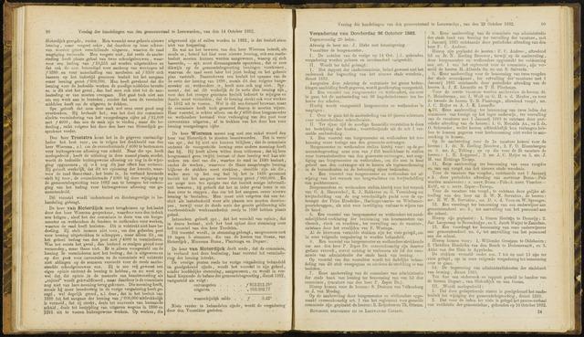 Raadsverslagen van de gemeente Leeuwarden, 1865-2007 (Notulen) 1882-10-26