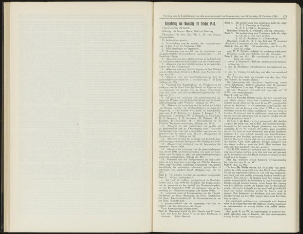 Raadsverslagen van de gemeente Leeuwarden, 1865-2007 (Notulen) 1940-10-30