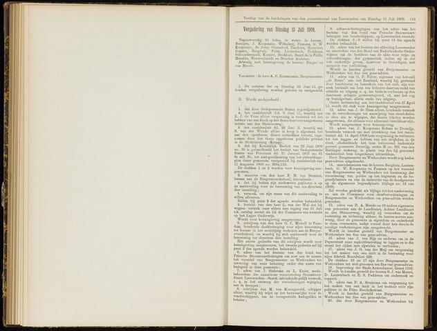 Raadsverslagen van de gemeente Leeuwarden, 1865-2007 (Notulen) 1909-07-13