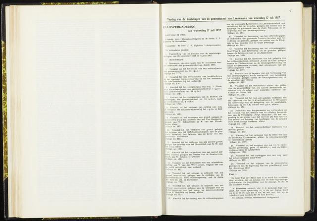 Raadsverslagen van de gemeente Leeuwarden, 1865-2007 (Notulen) 1957-07-17