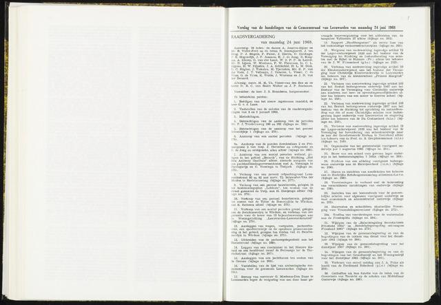 Raadsverslagen van de gemeente Leeuwarden, 1865-2007 (Notulen) 1968-06-24