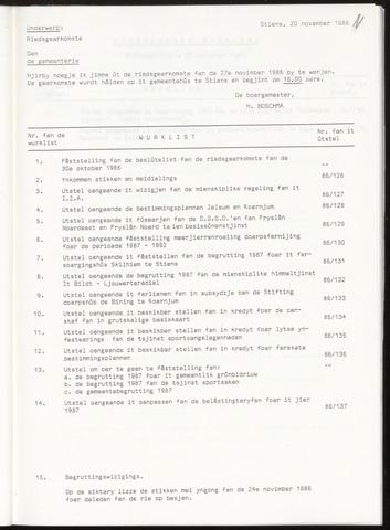 Notulen van de gemeenteraad van Leeuwarderadeel 1986-11-27