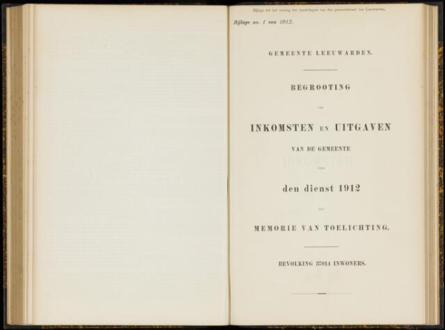 Raadsverslagen van de gemeente Leeuwarden, 1865-2007 (Bijlagen) 1912-01-01