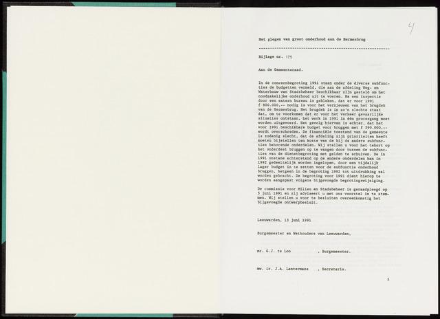 Raadsverslagen van de gemeente Leeuwarden, 1865-2007 (Bijlagen) 1991-01-01