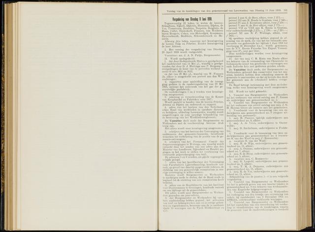 Raadsverslagen van de gemeente Leeuwarden, 1865-2007 (Notulen) 1918-06-11