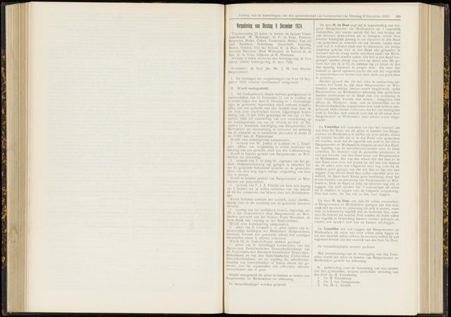 Raadsverslagen van de gemeente Leeuwarden, 1865-2007 (Notulen) 1924-12-09