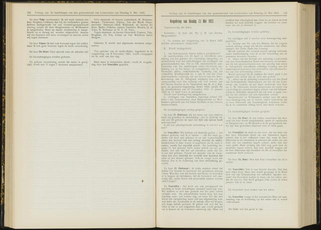 Raadsverslagen van de gemeente Leeuwarden, 1865-2007 (Notulen) 1922-05-23