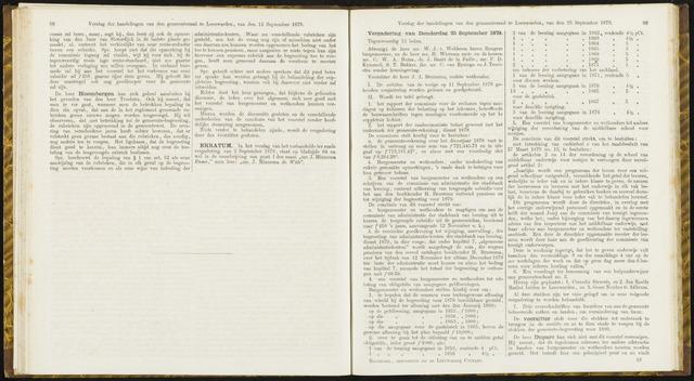 Raadsverslagen van de gemeente Leeuwarden, 1865-2007 (Notulen) 1879-09-25