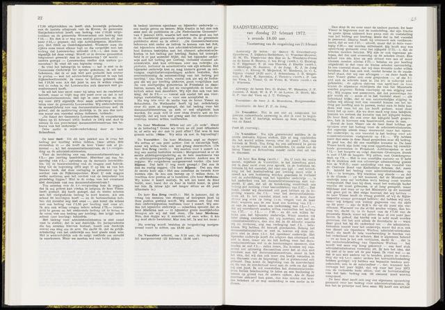 Raadsverslagen van de gemeente Leeuwarden, 1865-2007 (Notulen) 1972-02-22