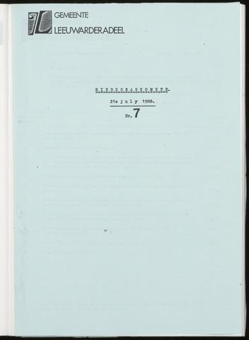 Notulen van de gemeenteraad van Leeuwarderadeel 1988-07-21