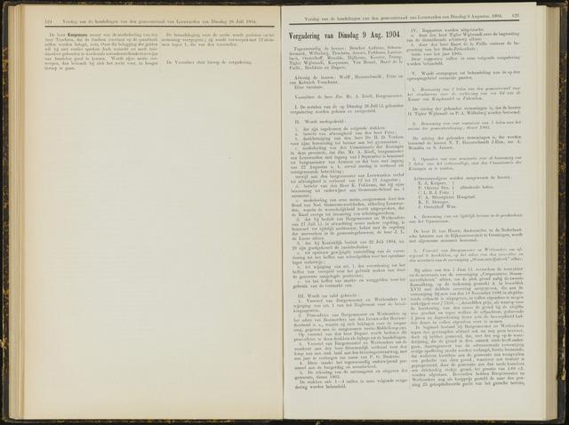 Raadsverslagen van de gemeente Leeuwarden, 1865-2007 (Notulen) 1904-08-09