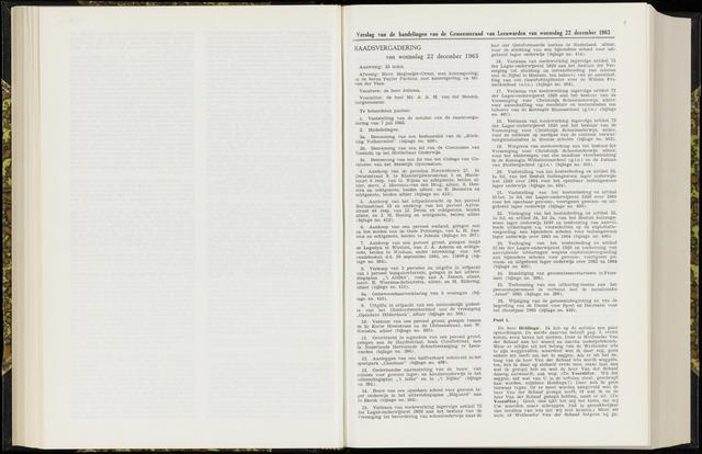 Raadsverslagen van de gemeente Leeuwarden, 1865-2007 (Notulen) 1965-12-22