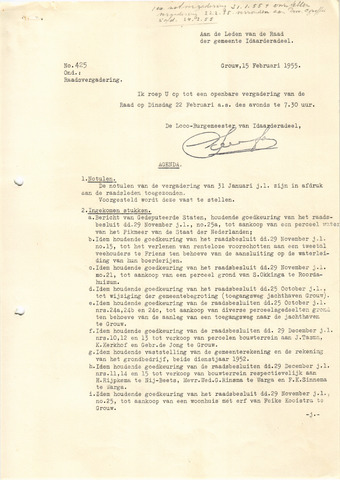raadsverslagen Idaarderadeel 1935-1983 1955-02-22