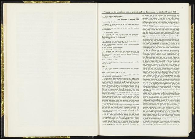Raadsverslagen van de gemeente Leeuwarden, 1865-2007 (Notulen) 1958-03-18