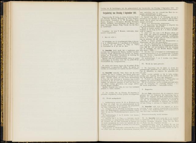 Raadsverslagen van de gemeente Leeuwarden, 1865-2007 (Notulen) 1911-09-05