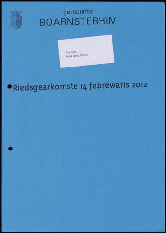 Boarnsterhim vergaderstukken gemeenteraad  2012-02-14