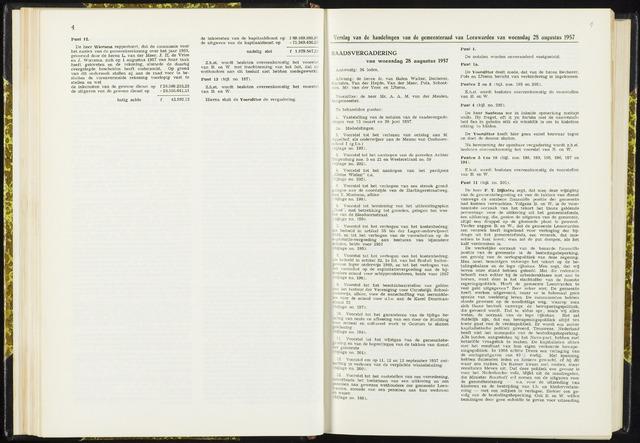 Raadsverslagen van de gemeente Leeuwarden, 1865-2007 (Notulen) 1957-08-28