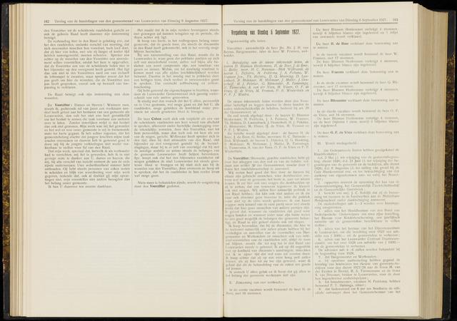 Raadsverslagen van de gemeente Leeuwarden, 1865-2007 (Notulen) 1927-09-06