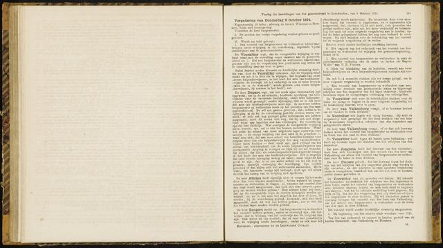 Raadsverslagen van de gemeente Leeuwarden, 1865-2007 (Notulen) 1874-10-08