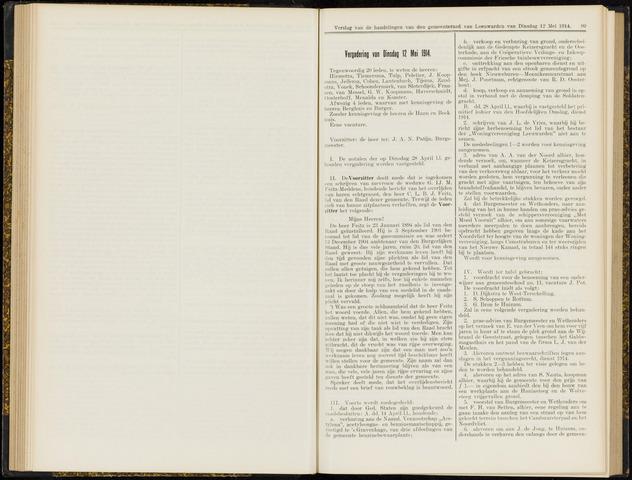 Raadsverslagen van de gemeente Leeuwarden, 1865-2007 (Notulen) 1914-05-12