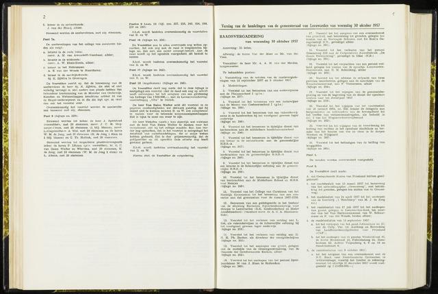 Raadsverslagen van de gemeente Leeuwarden, 1865-2007 (Notulen) 1957-10-30