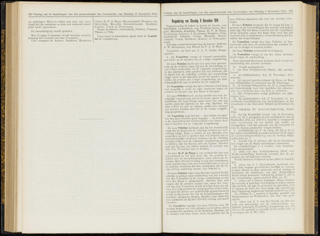 Raadsverslagen van de gemeente Leeuwarden, 1865-2007 (Notulen) 1914-12-08