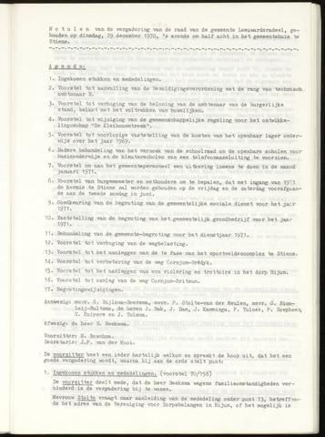 Notulen van de gemeenteraad van Leeuwarderadeel 1970-12-29