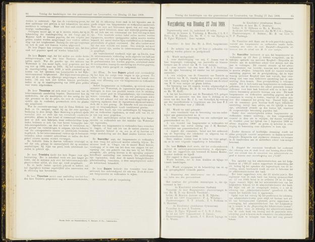 Raadsverslagen van de gemeente Leeuwarden, 1865-2007 (Notulen) 1899-06-27