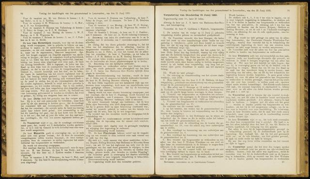 Raadsverslagen van de gemeente Leeuwarden, 1865-2007 (Notulen) 1885-06-25