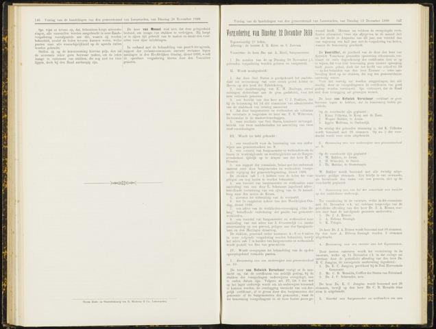 Raadsverslagen van de gemeente Leeuwarden, 1865-2007 (Notulen) 1899-12-12