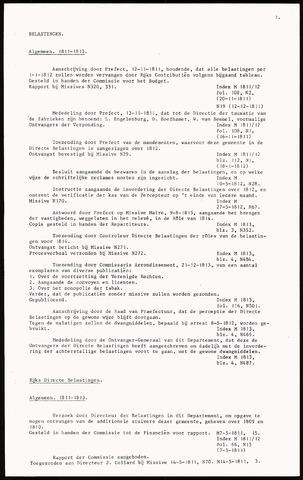 Besluiten Leeuwarden 1811-1850 (Repertorium de Roos) 1811-01-01
