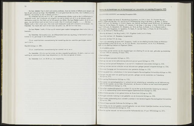 Raadsverslagen van de gemeente Leeuwarden, 1865-2007 (Notulen) 1975-08-25