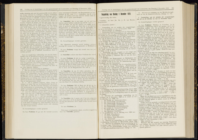 Raadsverslagen van de gemeente Leeuwarden, 1865-2007 (Notulen) 1929-12-03