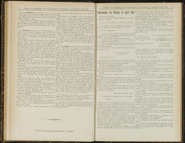 Raadsverslagen van de gemeente Leeuwarden, 1865-2007 (Notulen) 1900-04-10