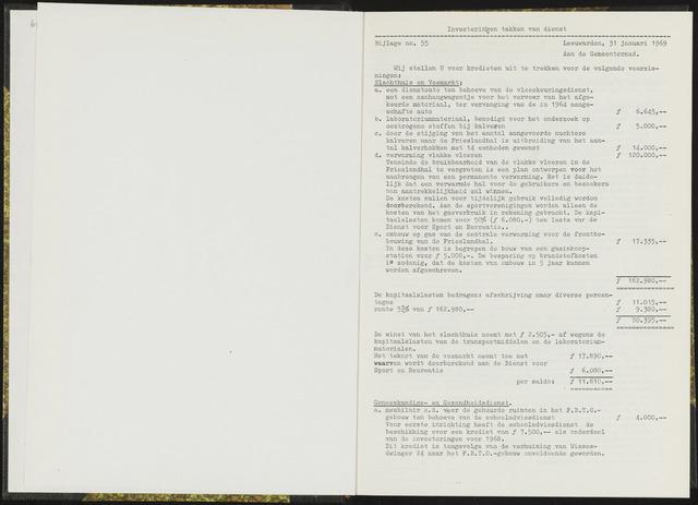 Raadsverslagen van de gemeente Leeuwarden, 1865-2007 (Bijlagen) 1969-01-01