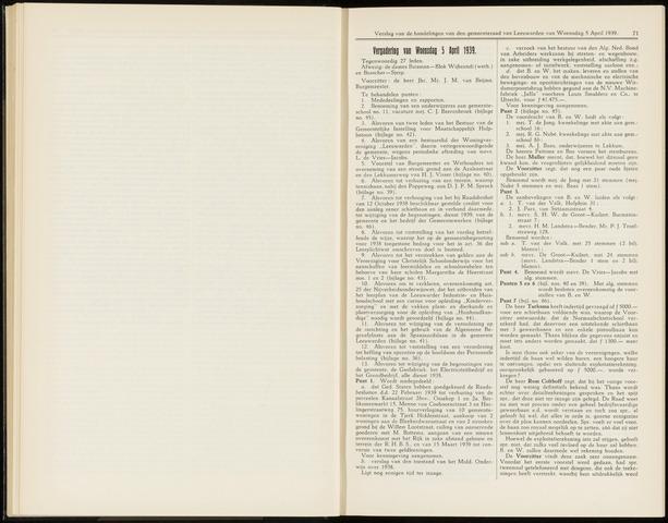Raadsverslagen van de gemeente Leeuwarden, 1865-2007 (Notulen) 1939-04-05