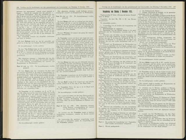 Raadsverslagen van de gemeente Leeuwarden, 1865-2007 (Notulen) 1935-11-05