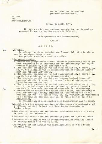 raadsverslagen Idaarderadeel 1935-1983 1959-04-29