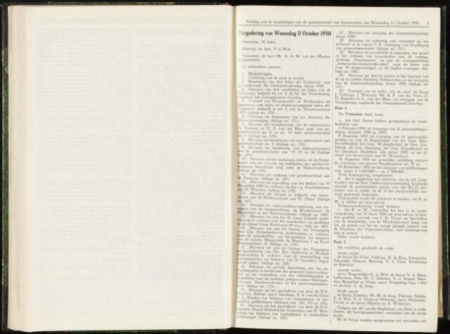 Raadsverslagen van de gemeente Leeuwarden, 1865-2007 (Notulen) 1950-10-11