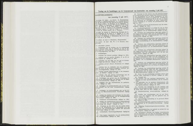 Raadsverslagen van de gemeente Leeuwarden, 1865-2007 (Notulen) 1971-07-05