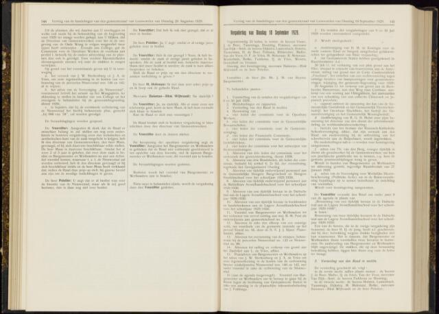 Raadsverslagen van de gemeente Leeuwarden, 1865-2007 (Notulen) 1929-09-10