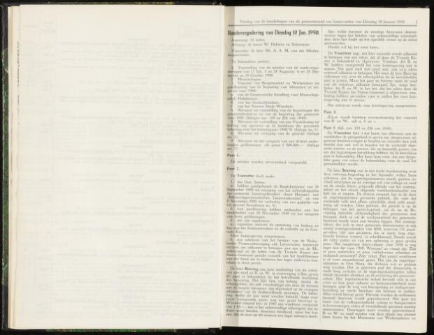 Raadsverslagen van de gemeente Leeuwarden, 1865-2007 (Notulen) 1950