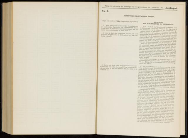 Raadsverslagen van de gemeente Leeuwarden, 1865-2007 (Schriftelijke vragen) 1931