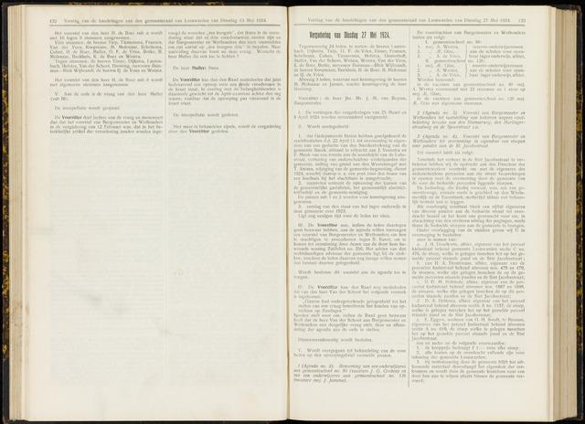 Raadsverslagen van de gemeente Leeuwarden, 1865-2007 (Notulen) 1924-05-27