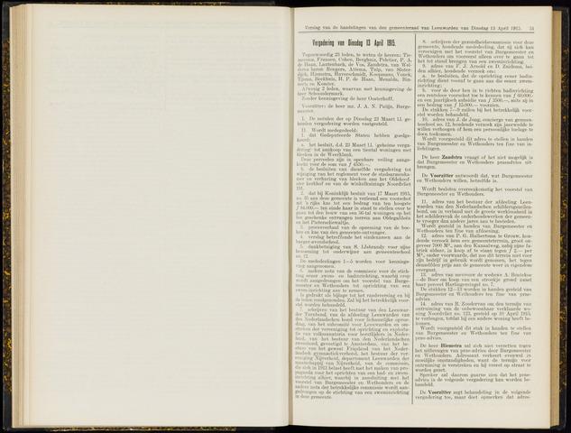 Raadsverslagen van de gemeente Leeuwarden, 1865-2007 (Notulen) 1915-04-13
