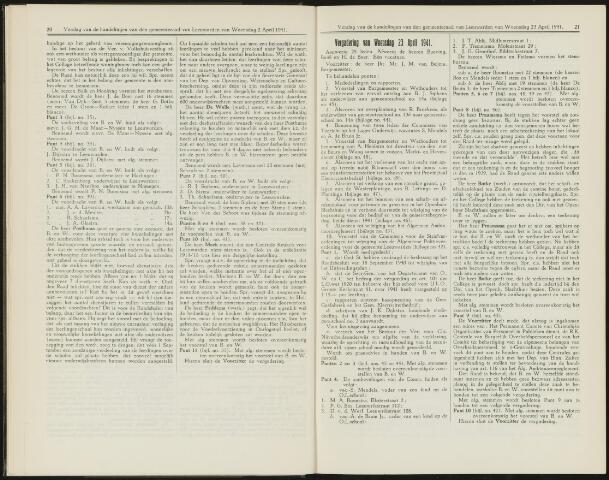 Raadsverslagen van de gemeente Leeuwarden, 1865-2007 (Notulen) 1941-04-23