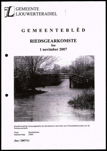 Notulen van de gemeenteraad van Leeuwarderadeel 2007-11-01
